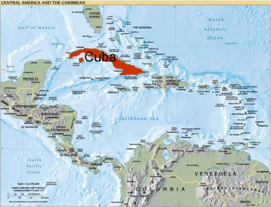 Maps Experience Cuba Now - Cuba and usa map