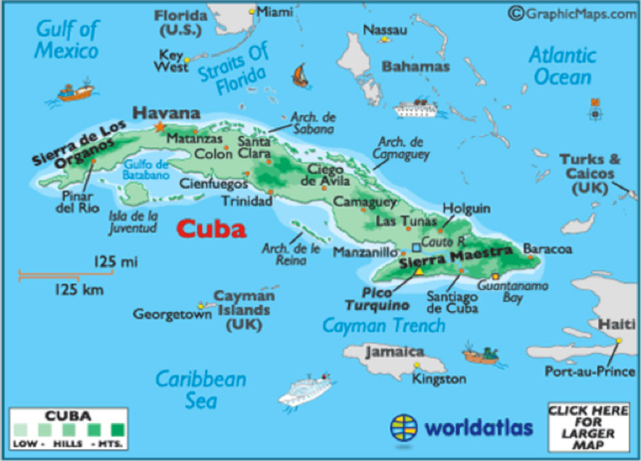 Maps Experience Cuba Now - Map of haiti in relation to us